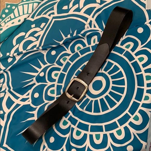 "Lane Bryant Accessories - 40"" belt LANE Bryant black leather 1-1/2 x 42"